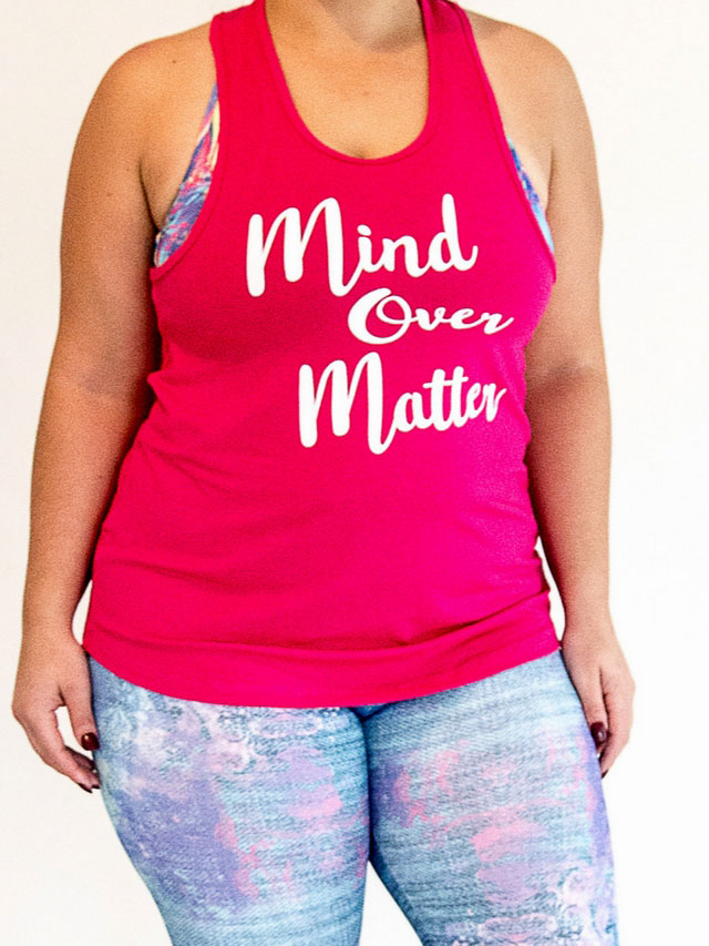 Mind Over Matter - Hot Pink Tank Top