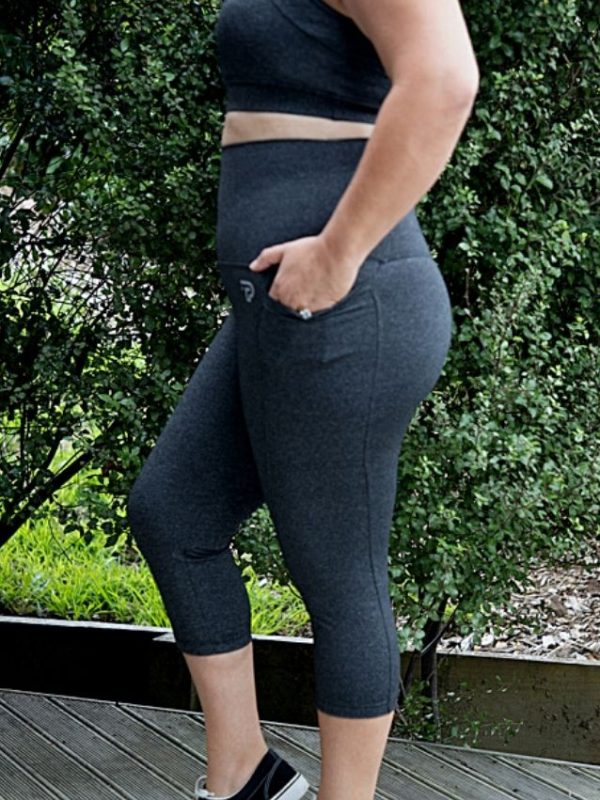 Grey 3/4 Length with pockets